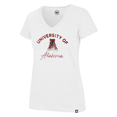 47 Brand U Of A Vault Logo Scrum V-Neck T-Shirt