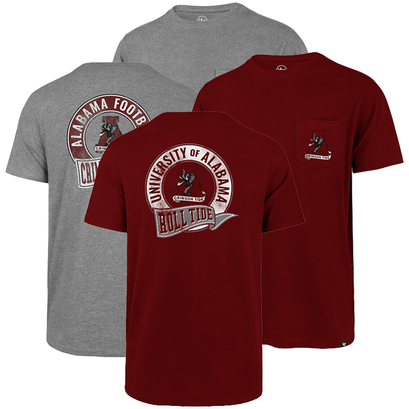 47 Brand Alabama Super Rival Vault A Pocket T-Shirt (SKU 13273095208)