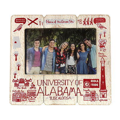 Julia Gash Alabama Distressed Wood Frame