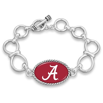 Alabama Link Bracelet With Toggle Clasp