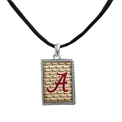 Alabama Script A Box Charm Necklace