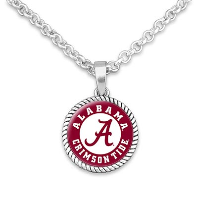 Alabama Circle Logo Charm Necklace