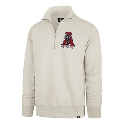 47 Brand Crimson Tide Stateside Striker 1/4 Zip Vault Logo