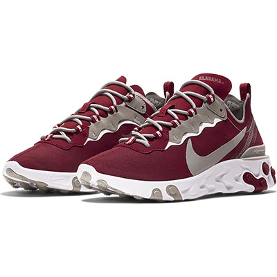 Alabama Nike React Element 55 Shoe