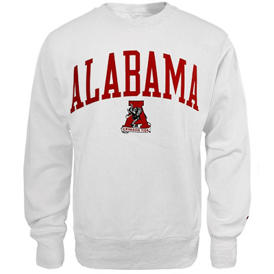 Alabama Vault A  Reverse Out Reverse Weave Crew Sweatshirt