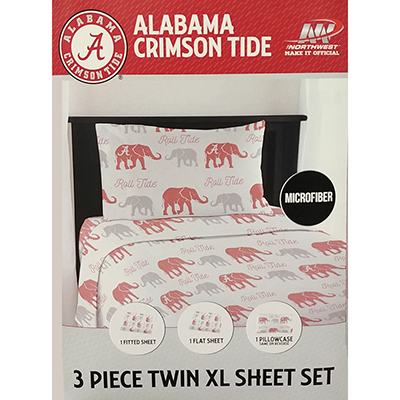 Alabama Elephant Walk Sheet Set With Pillowcase