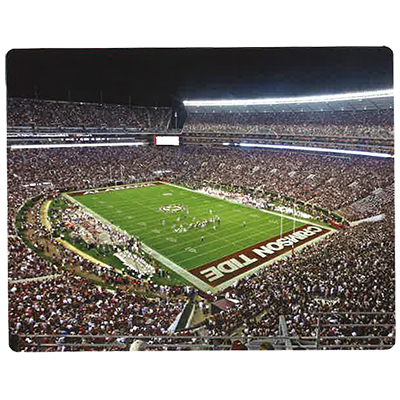 Alabama Bryant Denny Stadium Silk Touch Throw Blanket