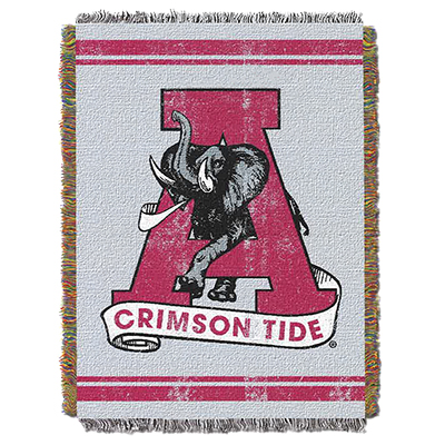 Alabama Vault A Elephant Woven Tapestry Throw Blanket