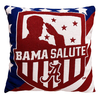 Alabama Double Sided Jacquard Salute To Service Throw Pillow