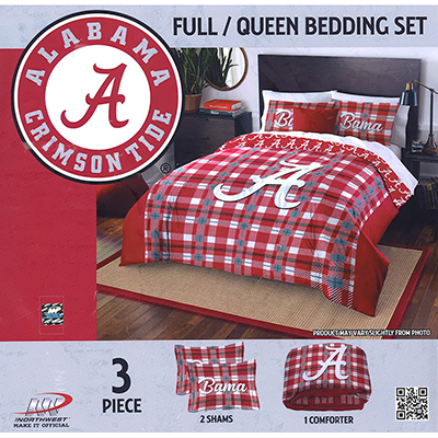 Alabama Tartan Comforter With Two Pillow Shams