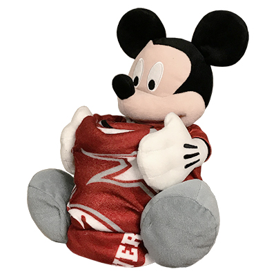 Alabama Mickey Mouse Plush With Fleece Throw Blanket