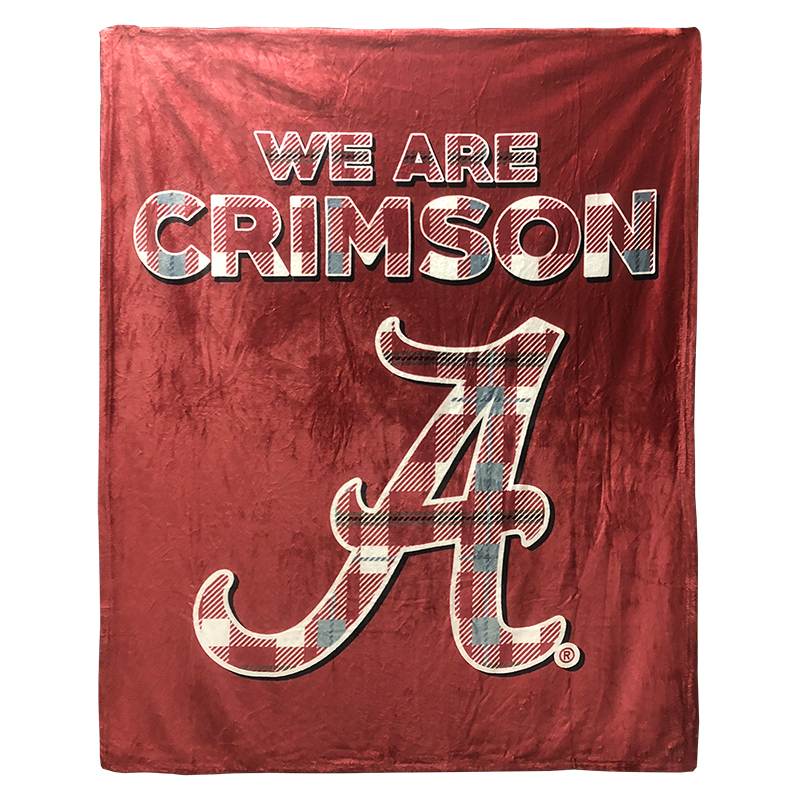 We Are Crimson Tartan Alabama Silk Touch Throw Blanket (SKU 1328124324)
