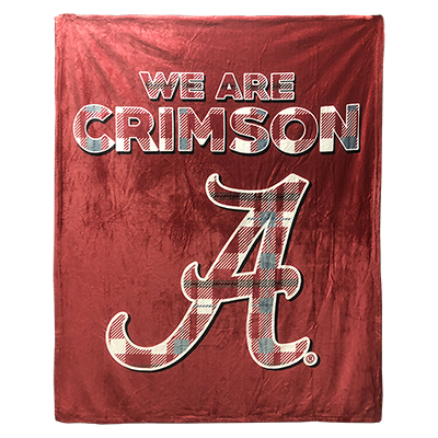 We Are Crimson Tartan Alabama Silk Touch Throw Blanket