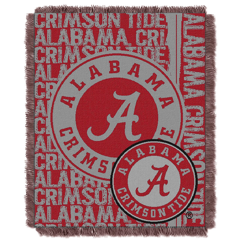 Alabama Jacquard Double Play Throw Blanket (SKU 13281397245)