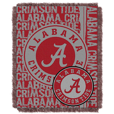 Alabama Jacquard Double Play Throw Blanket