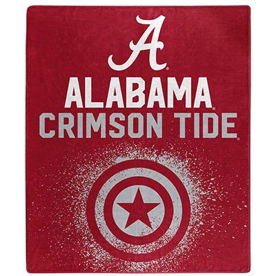 Alabama Silk Touch Marvel Avengers Shield Throw Blanket