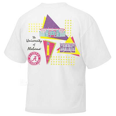 THE UNIVERSITY OF ALABAMA ROLL TIDE NEON CAMPUS T-SHIRT
