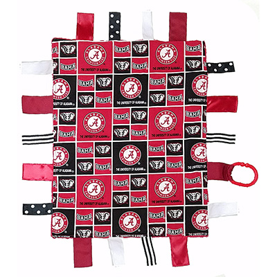 Alabama Sensory Tag Lovey Blanket
