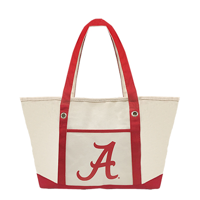 Alabama Cotton Canvas Zippered Tote