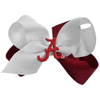 Alabama Two Tone Hair Bow With Patch