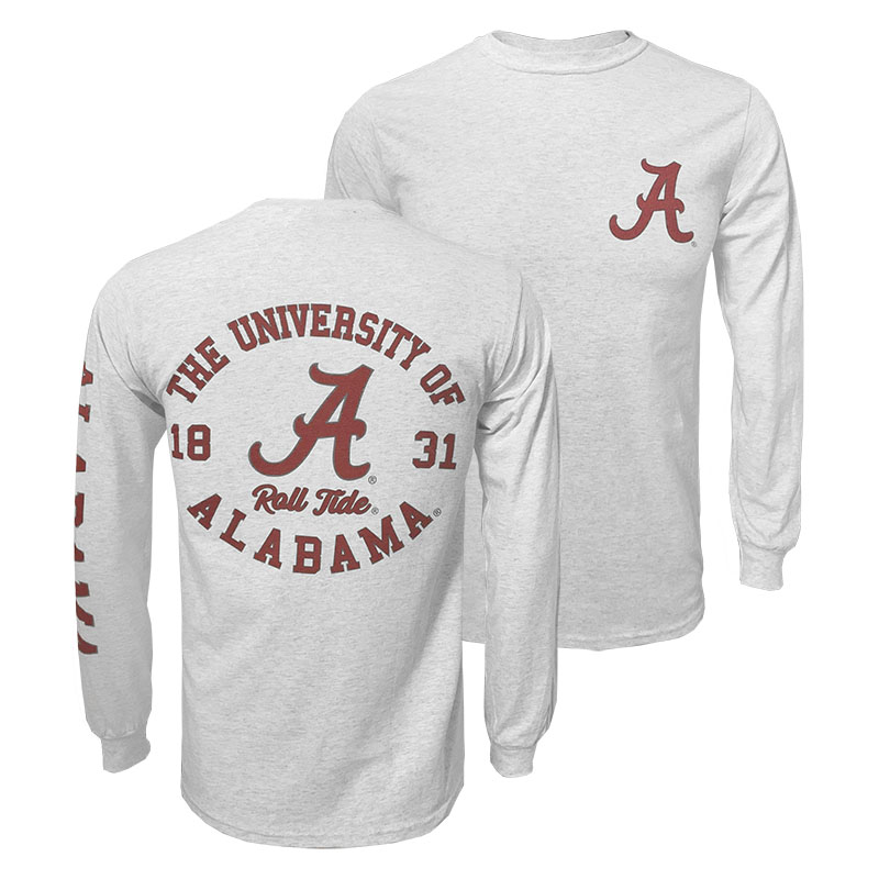 Alabama Classic Long Sleeve T-Shirt With 3 Design Locations (SKU 13286408102)