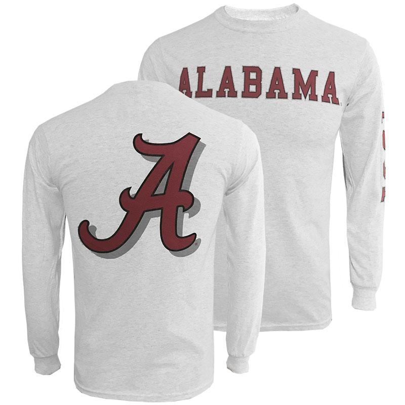 Alabama Classic Long Sleeve T-Shirt With 3 Design Locations (SKU 13286453102)