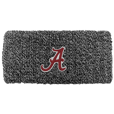 Alabama Script A Marled Ribbed Headband