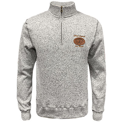 Where Legends Are Made Football Patch 2-Tone Sweater Fleece 1/4 Zip