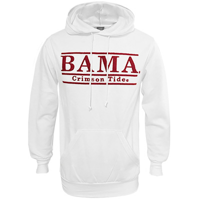 Bama Bar Design With Crimson Lace Fleece Hoodie
