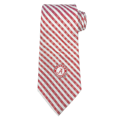 Alabama Gingham Tie With Circle Logo
