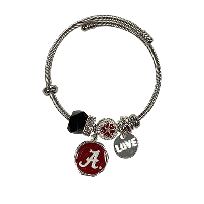 Alabama Beaded Braclet With Script A