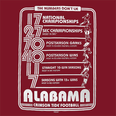 ALABAMA NUMBERS DON'T LIE T-SHIRT