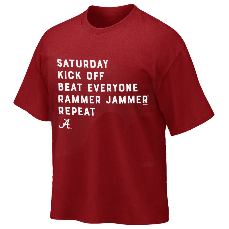 Alabama Saturday Kick Off T-Shirt (SKU 13291488102)