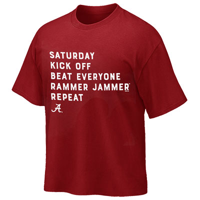Alabama Saturday Kick Off T-Shirt