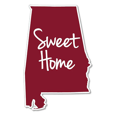 Sweet Home Alabama State Decal