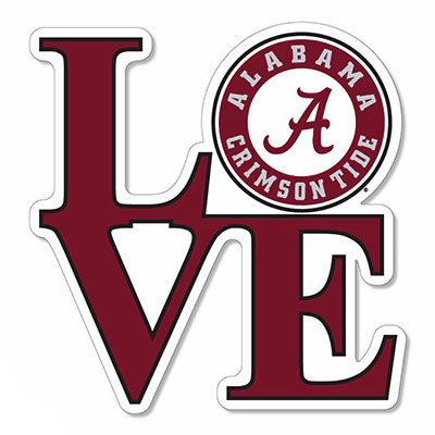 Alabama Love Circle Logo Magnet