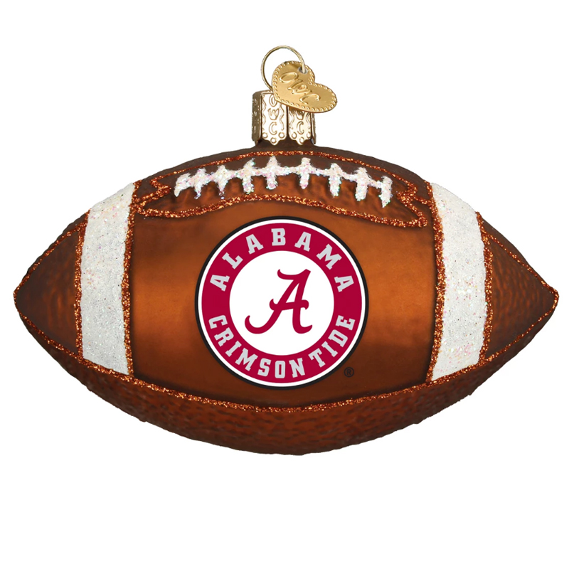 Alabama Football Ornament With Glitter (SKU 13291853100)