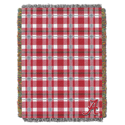 Alabama Tartan Woven Plaid Tapestry Throw