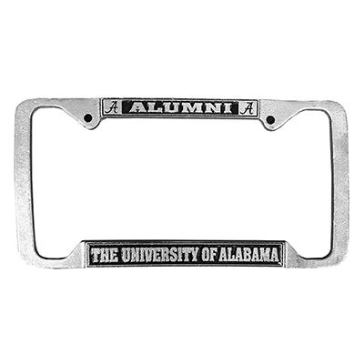 Alabama Alumni Pewter License Plate Frame