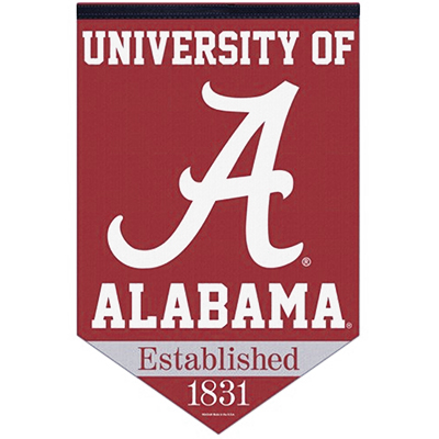 Univeristy Of Alabama Chevron Premium Felt Banner