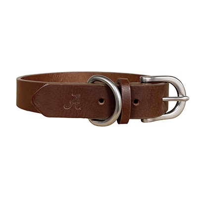 Alabama Leather Pet Collar