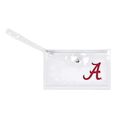 Alabama Clear Ticket Wristlet