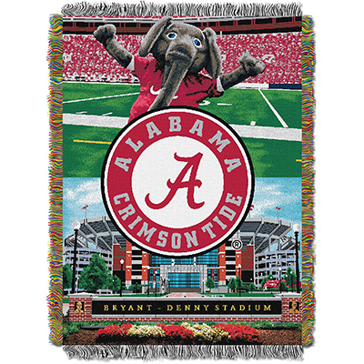 Alabama Home Field Advantage Woven Tapestry Throw