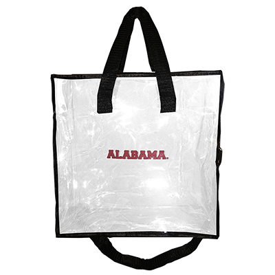 Alabama Clear Gameday Tote With Zipper