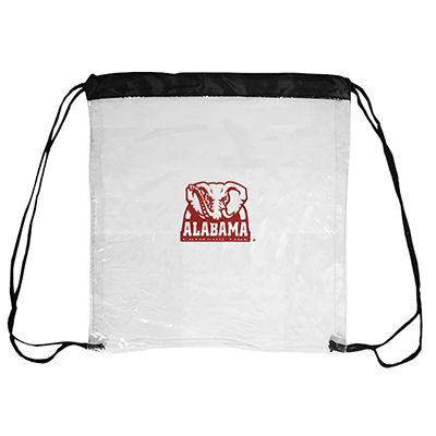 Alabama Clear Drawstring Backpack