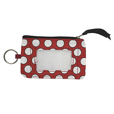 University Of Alabama Polka Dotted Coin Purse Keychain
