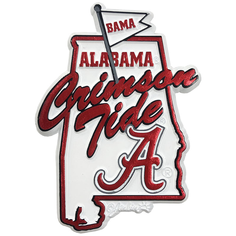 University Of Alabama Logo Map Magnet