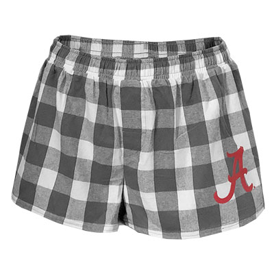 Alabama Essential Flannel Short With Script A