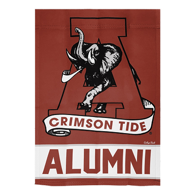 Alabama Alumni Two Sided Garden Flag