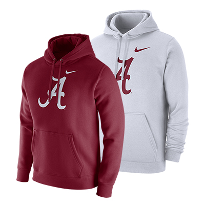 Alabama Script A Pullover Fleece Club Hoodie